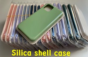 Silicone case Official Liquid Solid Silicone Gel Rubber Shockproof Phone Case Cover For Apple iPhone XS Max XR X 8 Plus 7 6S With Retail Box