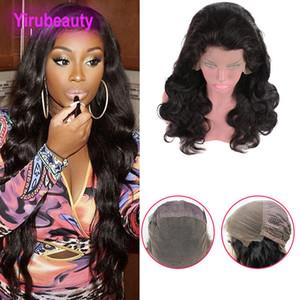 Pelucas de encaje de cabello humano indio Pre doblado 8-34 pulgadas de onda corporal Peluca de encaje completo Color natural Curl Curl Virgin Hair Products