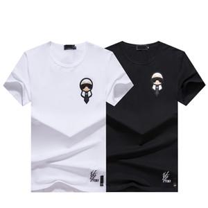 T Shirt manica corta Nuovo Mens estate Tees Plus Size O-collo del latte cotone stampato T-shirt Designer 3D Abbigliamento M-XXXL qualità Tees alta