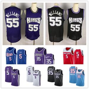 2020 Новый SacramentoКороль Джерси De'Aaron 5 Fox Marvin 35 Бэгли III Jason Williams 55 Город Синий издание баскетбольное