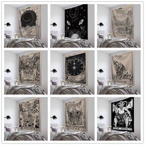 Wandbehang Tapisserie Lucky Tarot Medieval Divination Strandtuch Schal Bohemian Yoga Mat Tischdecke Polyester Tapisserien Wohnkultur