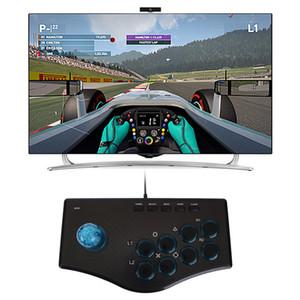 Arcade Joystick Gamepad Gamecontroller PC PS3 kabelgebundenes Gamecontroller-Kabel Wippe mit mehreren Funktionen für den Anschluss eines Computers