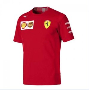 F1 Araba Yarışı Jersey Kısa Kollu Tişört Yarış Taraftarlar Ferrari Takım Yuvarlak Yaka Hızlı Kuru Üst