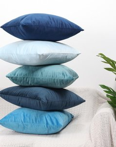 Lusso Blue Velvet Cuscino Copertura del cuscino Copricuscino Verde Giallo Rosa Nero Bianco Grigio casa Divano decorativo cuscini