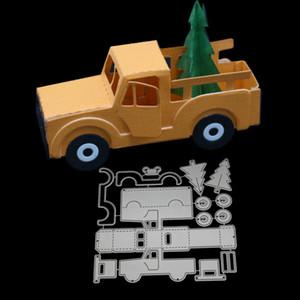 3D PickupTrucks Metallo Taglio Muore Natale Scrapbooking Craft Cut Die 2018 Stencil Carbon Die Cut Embossing Photo Card Decor