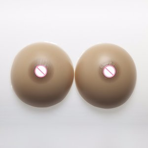 1000g Pair Classic Round Fake Breast Drag Queen Shemale Silicone Breast Form Transgender Crossdresser Silicone Boobs Tits