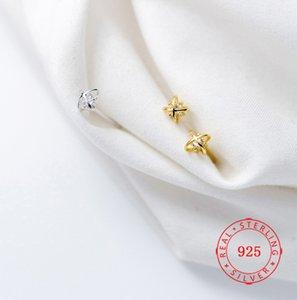 Дешевые оптовые серьги-гвоздики высокое качество стерлингового серебра 925 пробы одиночный камень серьги мини-крест цветок леди ювелирные изделия марокканские ювелирные изделия