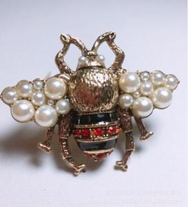 Abeille À Miel Broche Cristal Diamant Abeille Broches designer de luxe Broches En Alliage de Zinc Strass De Mode Femmes Insecte Chandail Pins5