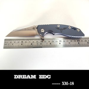 Rick Hinderer XM-18 faca dobrável Wharncliffe M390 lâmina punho azul titânio exterior caça acampamento ferramentas caminhadas bolso EDC frete grátis