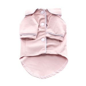 Dogs Fashion Solid Color French Style Pajamas Pet Comfortable And Breathable Clothes Dog Spring & Autumn Jacket Overalls