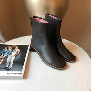 Traccia stellare Stivaletti modo delle donne di lusso del progettista Calzari Classic Monogram tacco grosso Martin Stivali Donne Desert boots Scarpe ls181