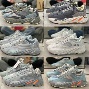 2020 Top High Quality 700 V2 Kanye West Men Women Running Shoes wave runner yecheil Hospital Grey Blue 3M Reflective Trainers Sneakers