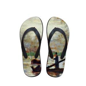 Münhasır Kadın Günlük Moda Kayma dirençli Flip Flop Ayakkabı Yaz Terlik Sandalet İçin Banyosu Yumuşak Sole 3B Hızlı Yazdır Flops