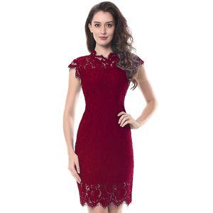 Parti Dantel Elbise Kadınlar Zarif Kolsuz Çiçek Kirpik Dantel Bodycon Kalem Ofis Vestidos Silm 4 Renkler Giyim Yeni