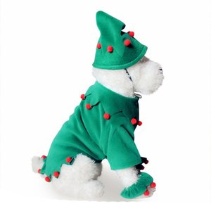 NEW-Pet Dog Clothes Christmas Costume Cute Cartoon Clothes for Small Dog Cloth Costume Dress Xmas Apparel for Kitty Dogs