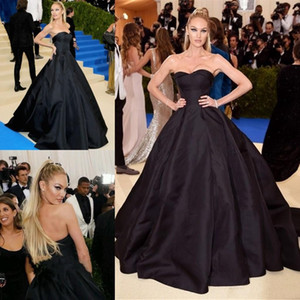 2020 Generous New Black Red Carpet Celebrity Dresses A Line Sweetheart Backless Long Prom Evening Gowns Formal Wears Custom Made