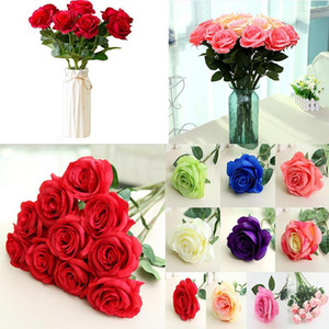 Artificial Flower Rose Silk Flowers Real Touch Peony Decorative Party Flower Wedding Decorations Flowers Christmas Decor DA029