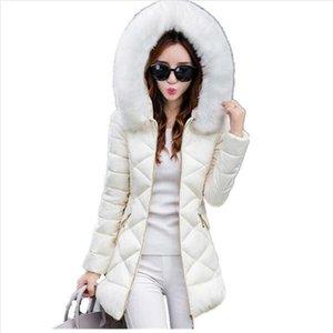 TYJTJY Casaco mujeres de la chaqueta de invierno y parkas feminino caliente grueso cuello de piel sintética Coats 2019 encapuchado de las mujeres señoras de la chaqueta de Fema