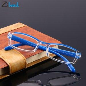 Zilead Men Women Ultralight Full Frame Presbyopic Eyeglasses Anti Fatigue Clear Resin Unbreakable Classical Reading Glasses