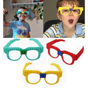 Gözlük Taban Plakası Çerçeve Arkadaş Polis Şehir DIY Oyuncak Gözlük Bricks Of Yapı Taşları Kid Hediye yazım istihbarat oyuncaklar 3 renk ücretsiz DHL