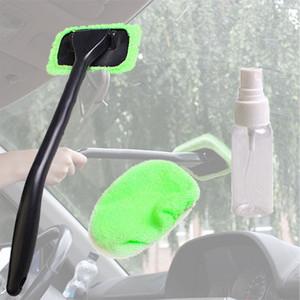 1pc Melhor microfibra Longo Handle Automobile pára-brisa Clean Car Wiper Limpador pano de janela de vidro Ferramentas lavável Car cuidado escova