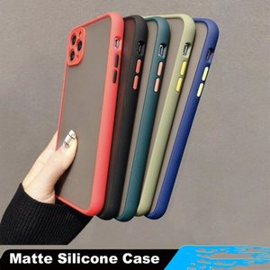 For iPhone 11 Pro XR 8 7 Hybrid Matte PC+TPU Case Camera Lens Protection Cover for iPhone 11 11pro 11 Pro max