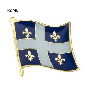 Distintivo QUEBEC Bandiera Badge Bandiera Lapal Pin On Backpack Pins per vestiti KS0223