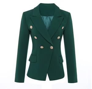 boucle costume mince millésime haut de gamme des femmes de mode métal à double boutonnage manteau de veste blazer