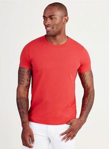 Les vrais hommes concepteur T-shirts vêtements T bleu blanc rouge noir d'été de luxe Hommes Mode RELIGIONING T-shirt Homme T-shirts 100% coton tailles asiatiques