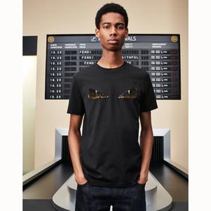 Nuova maglietta del progettista degli uomini di lusso ROMA moda magliette estive donne borsa bug modello occhio t-shirt maschile di alta qualità 100% cotone tees KL703163