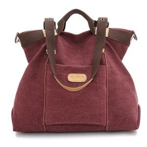 Hombro Versitile la vendimia a mano bolso de la manera de Corea del estilo nuevo lienzo bolso de las mujeres de moda grande Bag
