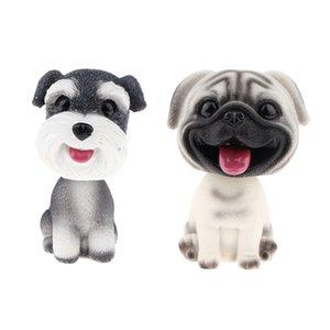2pcs Résine Bobble Head Dog Figurine Toy Home / Dashboard Décoration