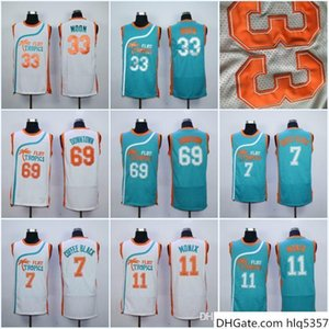 Mens Flint Tropics Semi Pro Movie Jersey 11 Flint Tropics 7 Coffee Black 33 Moon Semi 69 Downtown Basketball Jerseys
