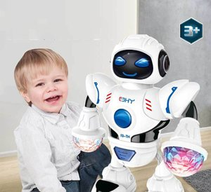 jouet robot danse électrique commerce extérieur robot danse éblouir musique légère LED puzzle modèle de jouet transfrontalier