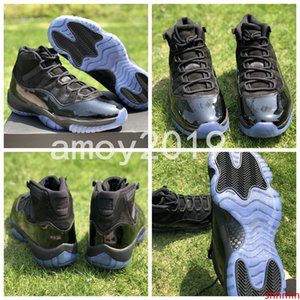 Prom Night 11 Basketball Shoes 11s Space Jam Bred Concord Midnight Blue Real Carbon Fiber XI Sports Shoes With Size 41-48