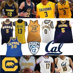 California Golden Bears Basketbol Jersey NCAA Kolej Brown Jason Kidd Bradley Austin Güney Anticevich Abdur-Rahim Johnson Anderson Crabbe
