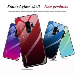 Degrade Temperli Cam Durumda Samaung Galaxy A5 A7 2017 S8 S9 Artı A6 A8 J4 J6 Artı J8 A7 2018 Not 9 8 A9S Sert Telefon Kapak