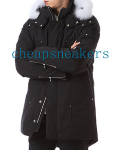 Cold winter Men's Stirling Long Parka Hooded with Fox Fur Collar 926 Silver scissors on the arm @cheapsneakers