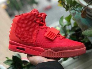 De Luxe Designer Hommes De Mode de basket-ball chaussures pour hommes robe NRG air 2 SP II Rouge mocassins plate-forme de course sneakers gris formateurs