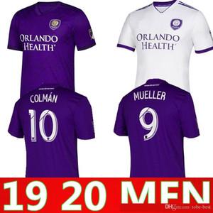 2019 2020 Orlando City em casa jérsei de futebol MUELLER futebol camisa uniformes COLMAN maillot de pé 19 20 orlando camiseta de futebol kit