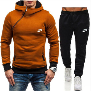 2020 Hombres chándal de deporte del hip-hop de las mujeres suéter con capucha + pantalones sistemas ocasionales chándales deportivos de alta calidad del basculador Sporting Traje