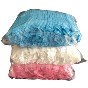 300Pcs Disposable Non-Woven Cap Thick Non-Woven Dust-Proof Strip Hat Cap Hood Beauty Salon Protection Mushroom