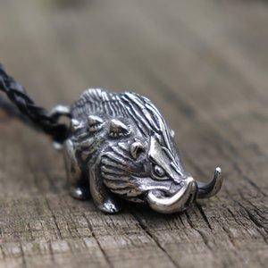 Мужчины Wild Viking Кабан из нержавеющей стали ожерелье Vintage Nordic животные Шарм Подвеска скандинавских ювелирные изделия