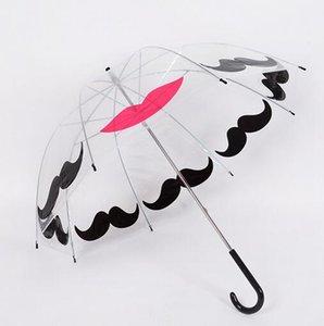 Hot Garden Plastic EVA Transparent Cute Bird Cage Parasol Long-handle Rainy Umbrella