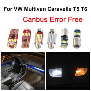 화이트 오류 무료 CANBUS 실내 돔지도 LED 전구 문 발밑 라이트 키트 폭스 바겐 Multivan를 들어 카 라벨 T5 T6 5 6 2003-2018