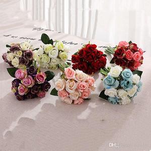 hot 10 style Artificial roses Flower Wedding Centerpieces Dress Bride Decorative Flowers Simulation 1lot 12pcs homeware T2I5489