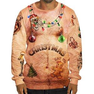 Designer Hommes Hoodies Lumières de Noël Cerfs ELK Impression 3D Sweat-shirts Hommes de Noël pulls avec capuche