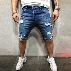 2020 Men's Cotton thin Denim loose Short Pants New Fashion Summer Male Casual Low Waist Short Jeans Shorts Stretch Pant
