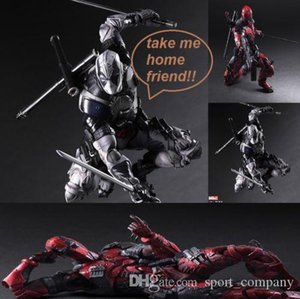 Play Arts 26CM PVC Deadpool Action Figure Model Toys PA Kai Wolverine Super Hero X-Men Collection Doll Toys Kids Gift