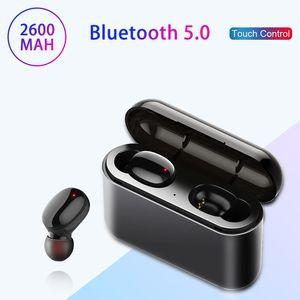 Auricolari 블루투스 무선 이어폰 투구 블루투스 5.0 + EDR TWS 블루투스 이어폰 2600mAh 충전 케이스 무선 이어폰 헤드폰